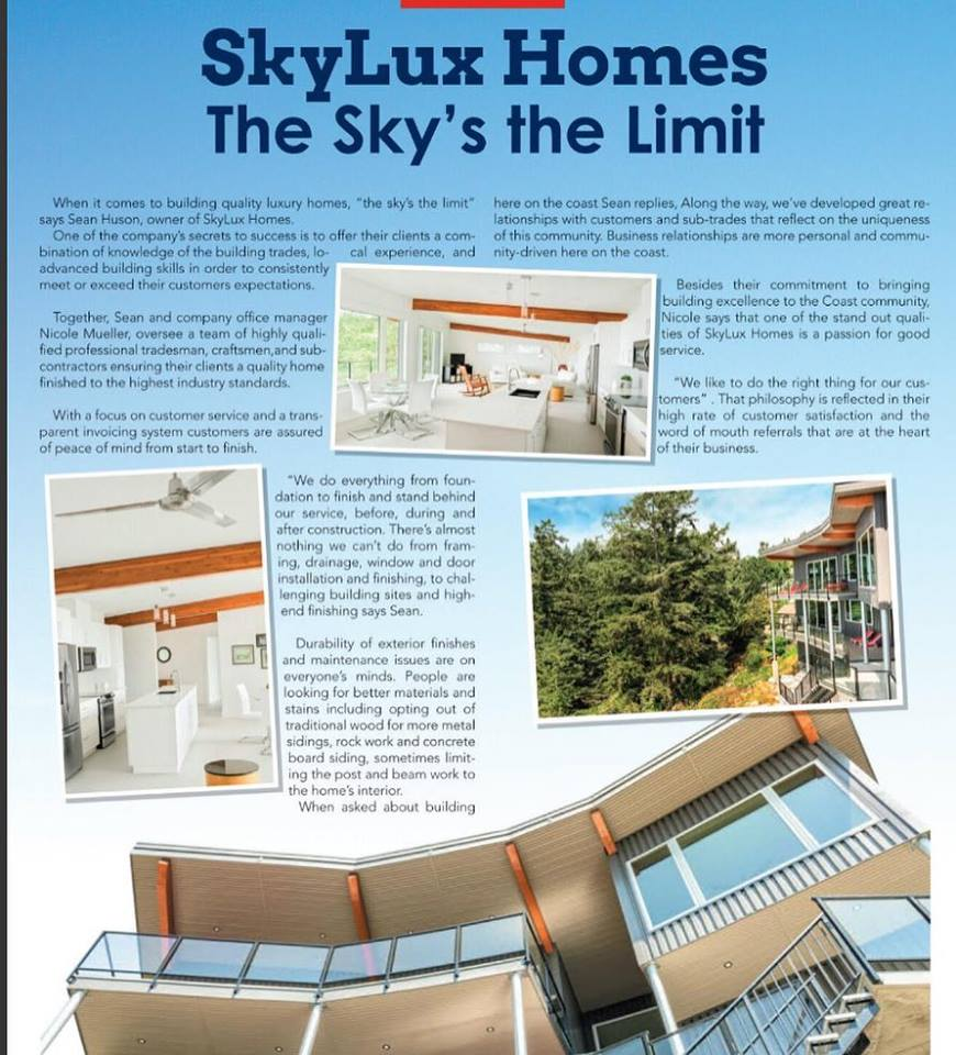 Skylux Homes Advertisement